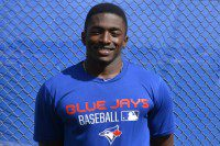 David Harris, a Blue Jays infield prospect, at the Bobby Mattick complex in Tampa (photo credit Mitch Sanderson).