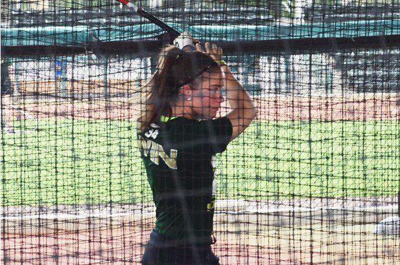University of South Florida, Veronica Gajownik practising her swing