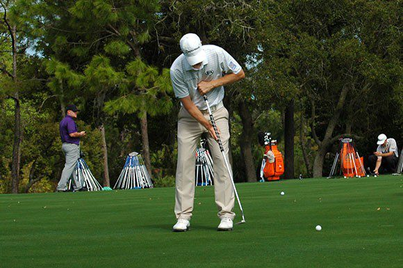 Canadian golfer David Hearn preparing for the upcoming Valspar Championship in Palm Harbor, Fla. on Tuesday.