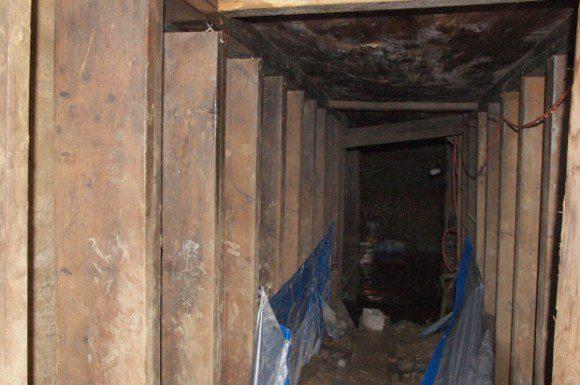 Police photo of the underground tunnel near York University.