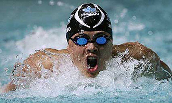 Jeremy Bagshaw had an outstanding swim to win the Men's 200 metre Freestyle final at the 2015 Swim Trials. Photo: Courtesy of Swimming Canada