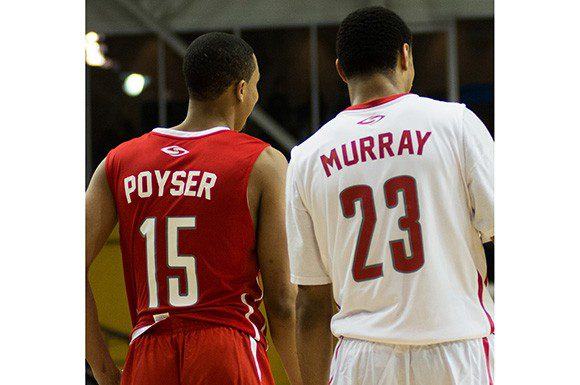 MVPs Jalen Poyser (left) and Jamal Murray (right) were the stars in the inaugural BioSteel All-Canadian Basketball Game on Apr. 14 in Toronto, Ont.