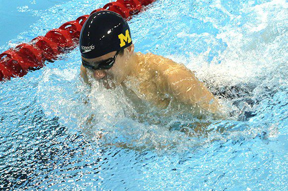 Richard Funk won his second gold medal at the Canadian Swimming Trials Friday in the men's 50 metre breaststroke.