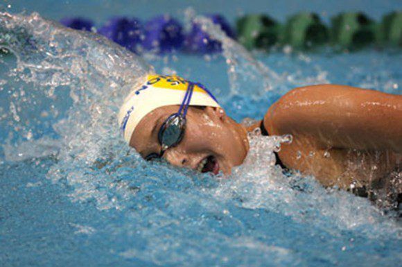 Tabitha Baumann swam a strong 800 metre freestyle on the last night of the national trials.