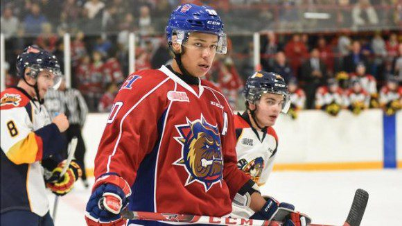 Stephen Harper dazzled in the Bulldog's 4-3 win over the Oshawa Generals.