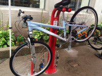 The TTC unveiled their new bike stations that will be available at ten subway stop locations.