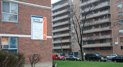 A Toronto Community Housing building is seen under improvement in a 2010 file photo.