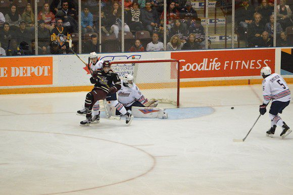 Oshawa Generals led by strong defence and goaltending to their third win of the season.