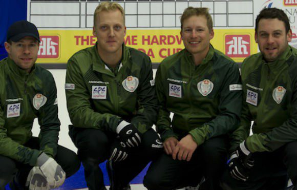 Left to Right: Jim Cotter, Ryan Kuhn, Tyrel Griffith, Rick Sawatsky at the 2014 Canada Cup in Camrose, Alberta.