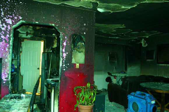 Cosburn Avenue apartment housed family of four before it was gutted by fire on Oct. 5.
