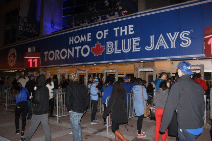 Blue Jays fans arrived at Game 3 of the series — but only after having voted, they said.
