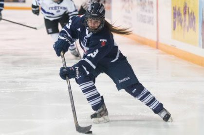 University of Toronto captain Kristi Riseley had six points (4G, 2A) over the weekend as the Varsity Blues remained perfect on the season.