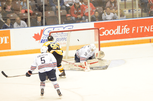 Spencer Watson scoring the game winner 30 seconds into the overtime period.