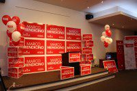 Liberal Party candidate Marco Mendicino is hosting his post-election party tonight at Seoul House in North York. He is expected to arrive and join the audience for a live vote count when the polls close at 9:30 p.m.