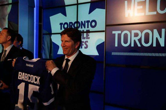 MIke Babcock after signing with the Maple Leafs, announcing that there will be pain to go through for his team.
