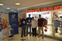 Justin Van Dette, Anthony Farnell, Jayesh Tailor, and Brad Boyes (left to right) talk about the Growing Women's Health Campaign.
