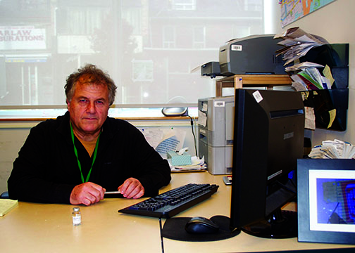 Raffi Balian is coordinator of the Counterfit Harm Reduction program at the South Riverdale Community Health Centre.