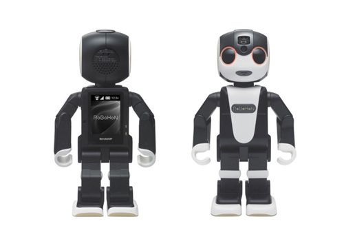 The interactive android robot mobile device,  Robohon, from Sharp will soon be available in Japan.