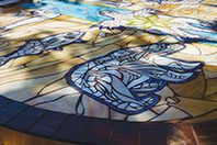 The bear clan represented on the Gathering of the Clans Mosaic.