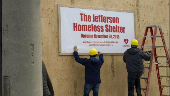 A campaign to end homelessness in Canada causes a stir in the Leaside neighbourhood.