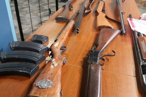 Toronto Police collected 86 long rifles and 22 hand guns in gun amnesty project.