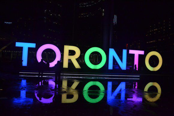 Toronto continues to be lit up by a popular 3D sign stationed at Nathan Phillips Square.