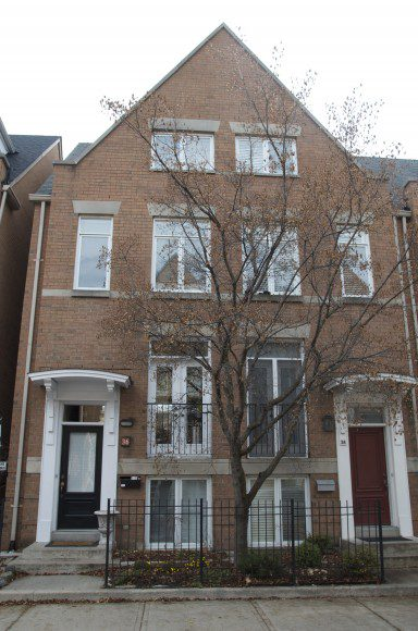 Townhouse on East York Avenue. Average price for a house on this street is roughly $600,000.