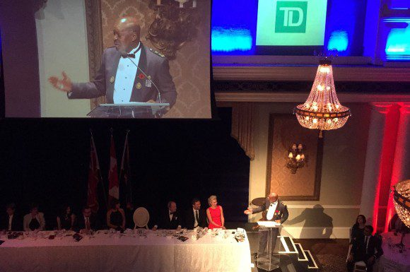 Chief Mark Saunders gives a warm welcome to those who attended his event. He thanks the many sponsors for their support.