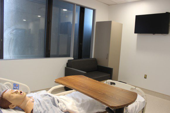 One of the mock-up rooms