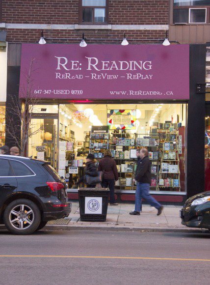 Re Reading Bookstore located at 548 Danforth Ave.