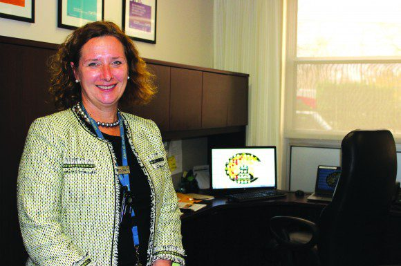 Sarah Downey in her office at East General