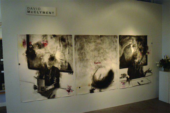 Some of David McClyment's work displayed at the David Kaye Gallery.