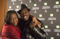 Fay Gordon(left) and Al Green(right) pose for a picture at the Redemption Live concert.