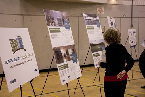 Public looks at visuals for Parks and Rec facilities plan