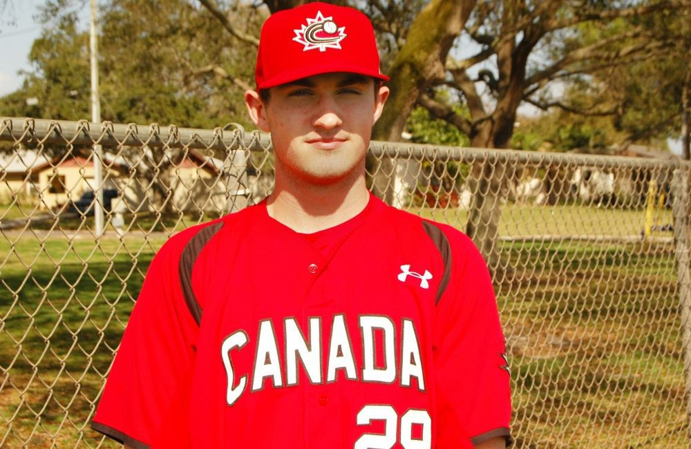 Third baseman Brad Aldred plays varsity basketball and volleyball, along with baseball, with hopes of staying in shape.