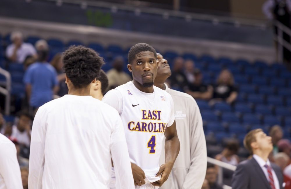 Senior Prince Williams was frustrated as his Pirates' were unable to capture the win, ending his college career.