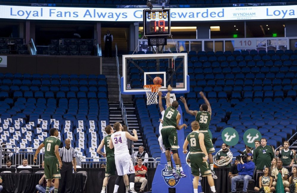 Jaleel Cousins showed off his all-round athletic ability against the University of East Carolina at the Amway Centre in Orlando, Fla.