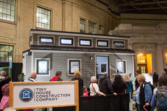 "200 square-foot ""Tiny house"" at the National Home Show."