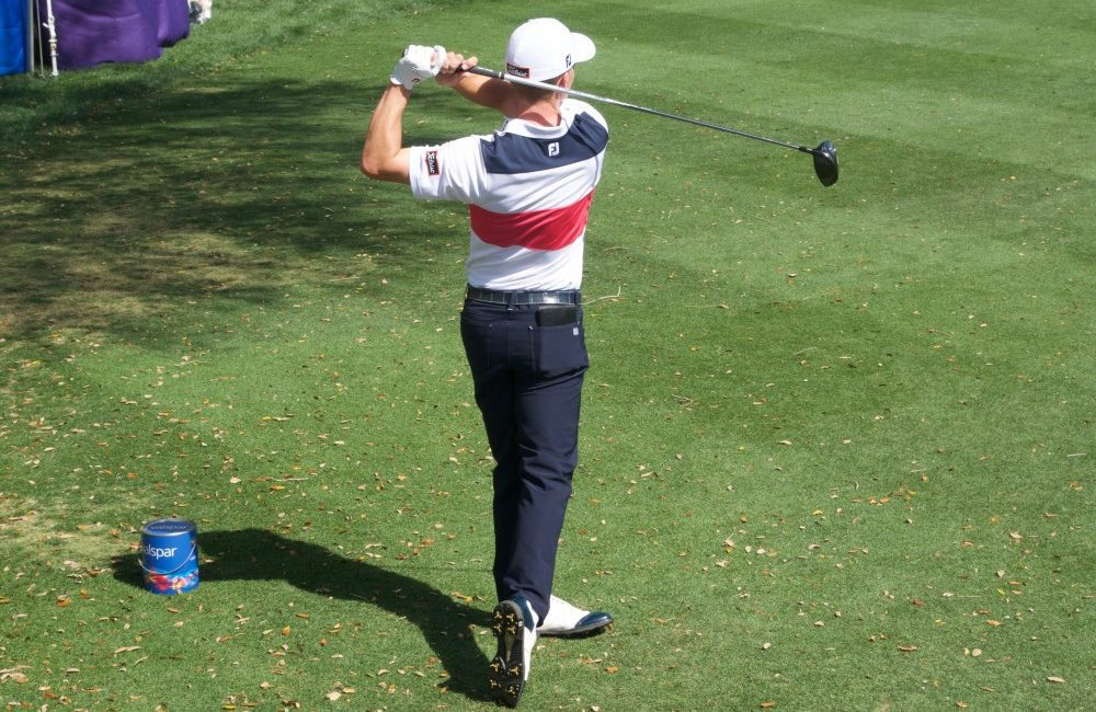 Blayne Barber works on his accuracy off the tee on the 16th hole of Innisbrook Golf Club on Tuesday.  Barber is competing at the 2016 Valspar Championship this weekend.