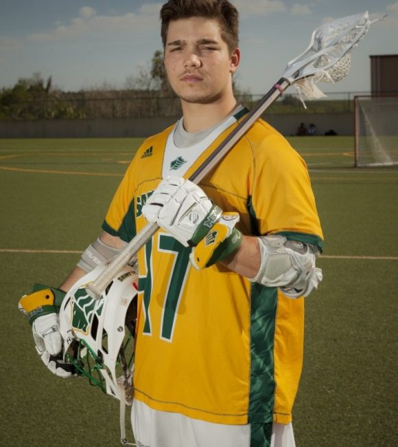 Midfielder Zach Lysyk posed for pictures during an off day last week at Saint Leo University.