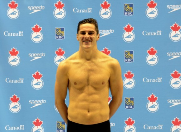 Gordie Michie after his third place finish in the men's 100m individual medley