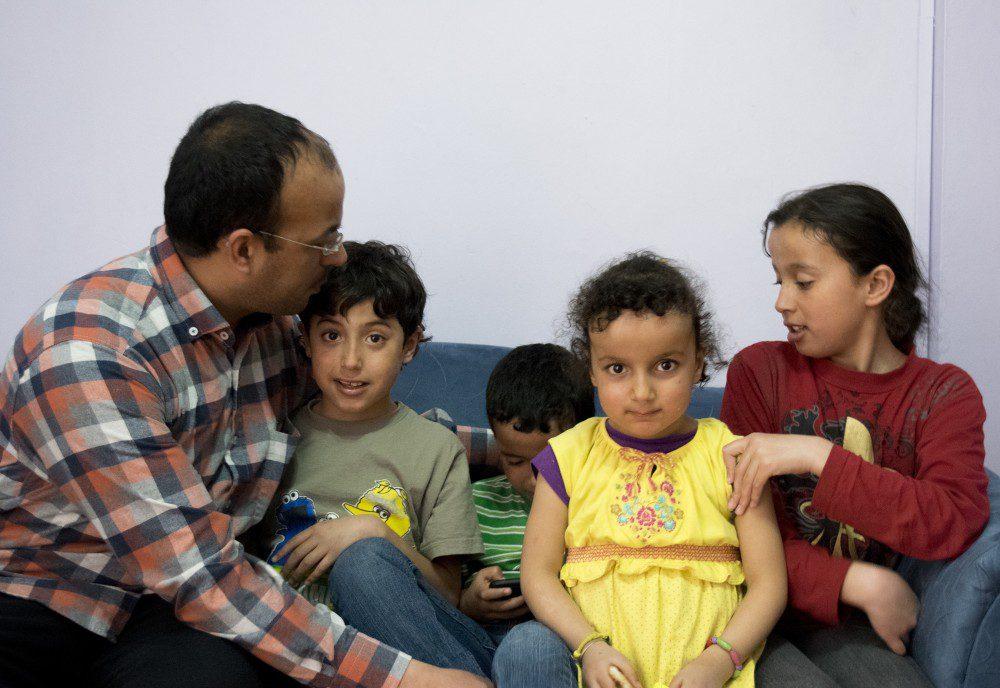 From left to right: Mohamad al Chebli, Younes al Chebli, Chebli al Chebli, Khadeja al Chebli, Amal al Chebli.