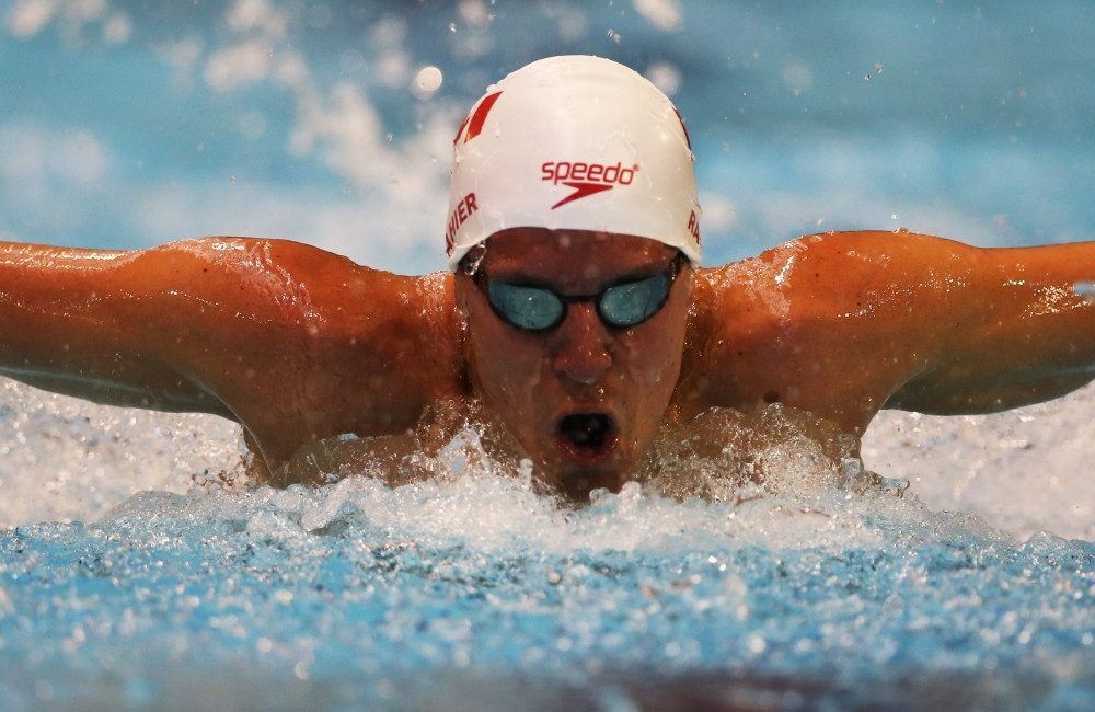 Canadian Paralympic hopeful Adam Rahier swims at the 2015 IPC Swimming World Championships