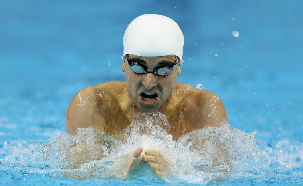 Benoit Huot competing in the 2015 Can Am Para-swimming Championship