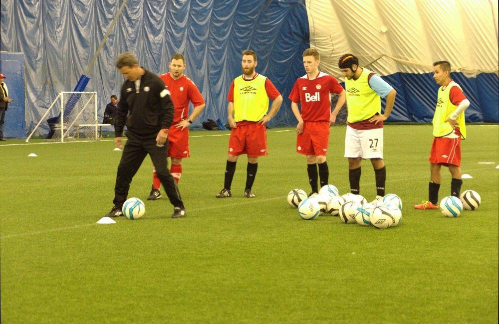 Coach Drew Ferguson training with national team hopefuls in Aurora, Ontario