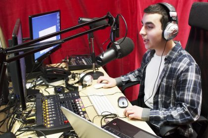 Bryce Turner is one of the on-air personalities on CJRU/1280 AM, a new radio station with East York at the epicentre of its coverage area.