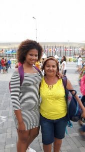 Silene and her grandaughter at Olympic Park in Rio de Janeiro, Brazil, on September 15, 2016