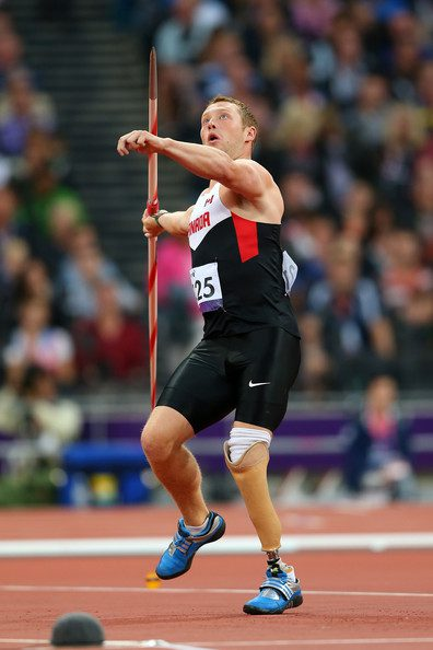 Alister McQueen, pictured at the 2012 London Paralympics, won silver in javelin in Rio. Photo courtesy of the Canadian Paralympic Committee.