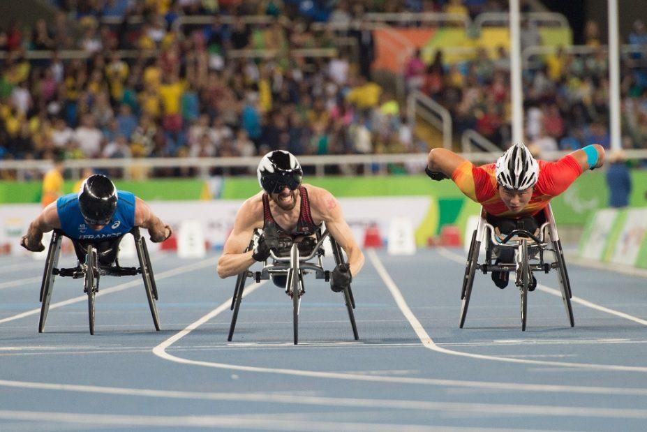 Brent Lakatos crosses the finish line at the Rio Olympics. Photo courtesy of Athletics Canada.