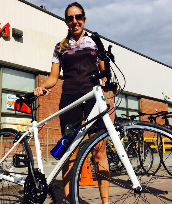 Luciana Gibertone says she doesn't feel safe riding her bike in Toronto.
